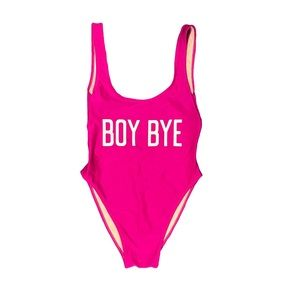 Private Party BOY BYE fuchsia pink one piece M L